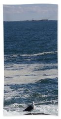 Bath Towel featuring the photograph Seabreeze. by Robert Nickologianis