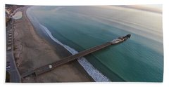 Seacliff State Beach From Above Hand Towel