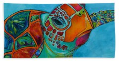 Seaglass Sea Turtle Hand Towel