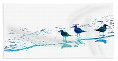 Seagull Art - On The Shore - By Sharon Cummings Hand Towel