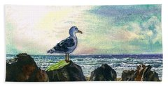 Seagull Lookout Hand Towel