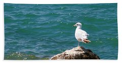 Seagull On Rock Bath Towel