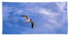 Bath Towel featuring the photograph Seagull by Sennie Pierson