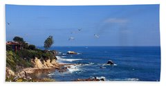 Seagulls At Laguna Beach Hand Towel