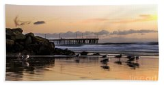 Seagulls On The Coast Hand Towel by Mike Ste Marie