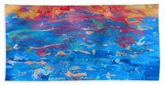 Seascape Abstract Bath Towel