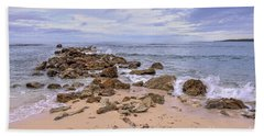 Seascape With Rocks Hand Towel