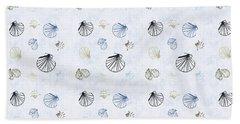 Seashell Pattern Hand Towel