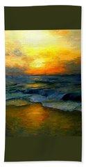 Seaside Sunset Bath Towel by Gail Kirtz