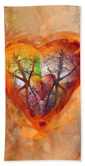 Season Of The Heart Hand Towel