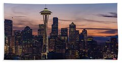 Seattle Cityscape Morning Light Hand Towel