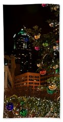 Seattle Downtown Christmas Time Art Prints Hand Towel by Valerie Garner