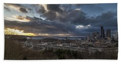 Seattle Dramatic Dusk Hand Towel
