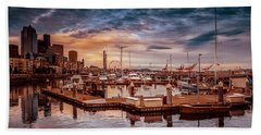 Seattle Marinescape. Bath Towel