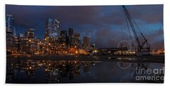 Seattle Night Skyline Hand Towel