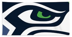 Seattle Seahawks Bath Towel by Tony Rubino