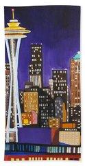 Seattle Skyline Hand Towel