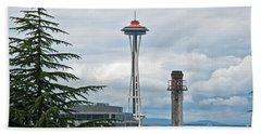 Seattle Spaceneedle Golden Anniversary Art Prints Bath Towel by Valerie Garner