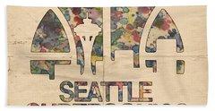 Seattle Supersonics Poster Vintage Bath Towel