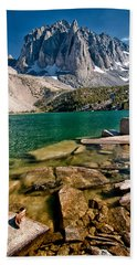 Second Lake And Temple Crag Hand Towel