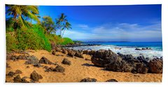 Secret Beach Maui Hand Towel by Kelly Wade