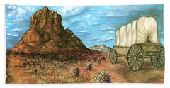 Sedona Arizona - Western Art Painting Hand Towel