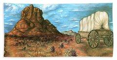 Sedona Arizona - Western Art Painting Bath Towel