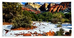 Sedona Arizona - Wilderness Hand Towel by Bob and Nadine Johnston