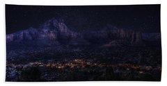 Sedona By Night Bath Towel by Lynn Geoffroy