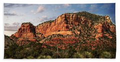 Hand Towel featuring the photograph Sedona Vortex  And Yucca by Barbara Chichester
