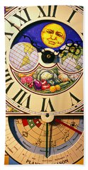 Seed Planting Clock Hand Towel