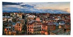 Segovia Nights In Spain By Diana Sainz Bath Towel