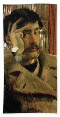 Self Portrait, C.1865 Panel Hand Towel
