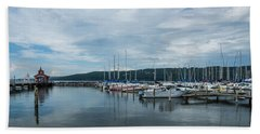 Seneca Lake Harbor - Watkins Glen - Wide Angle Bath Towel by Photographic Arts And Design Studio