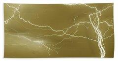 Sepia Converging Lightning Hand Towel