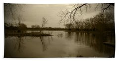 Sepia Lake Hand Towel