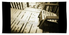Bath Towel featuring the photograph Sepia - Nature Paws In The Snow by Absinthe Art By Michelle LeAnn Scott