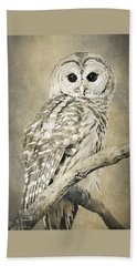 Sepia Owl Hand Towel