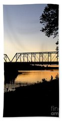 September Sunset On The River Bath Towel