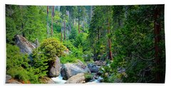 Sequoia Stream Hand Towel by Heidi Smith