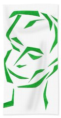 Serene Face Bath Towel by Delin Colon