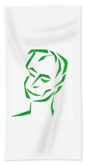 Serene Face Hand Towel