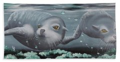 Hand Towel featuring the painting Serenity by Dianna Lewis