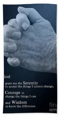 Serenity Prayer Finding Peace Hand Towel