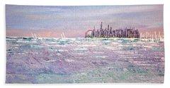 Serenity Sky Hand Towel by George Riney