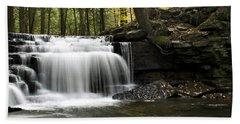 Bath Towel featuring the photograph Serenity Waterfalls Landscape by Christina Rollo