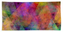 Bath Towel featuring the digital art Set Sails On The Open Sea Abstract by Andee Design