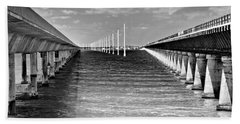 seven mile bridge BW Bath Towel