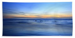 Bath Towel featuring the photograph Rocks In Surf Carlsbad by John F Tsumas