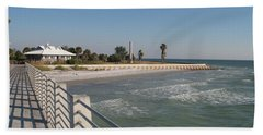 Bath Towel featuring the photograph Shadow On The Pier by Christiane Schulze Art And Photography